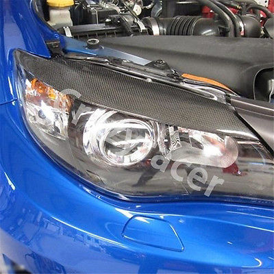 Carbon Fiber Front Headlight Cover Eyelid Eyebrow For Subaru Impreza 10th 08-11 carbon fiber front headlight cover eyelid eyebrow for subaru impreza 9th 05 06