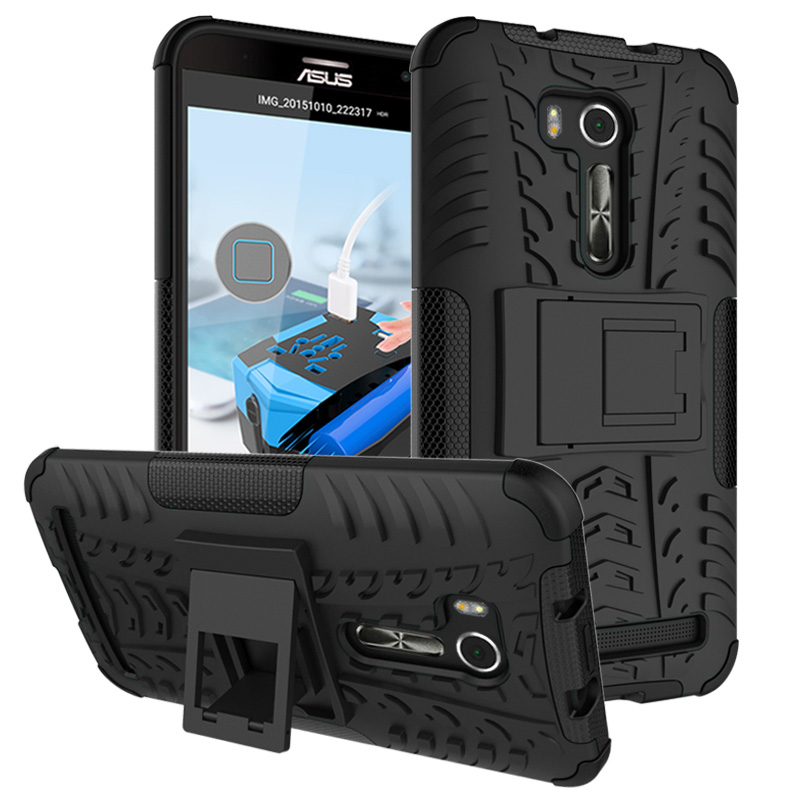 silicone phone Case sFor Asus Zenfone Go TV G550KL Cover ShockProof TPU +PC Phone Stand cases For Zenfone Go ZB551KL phone shell