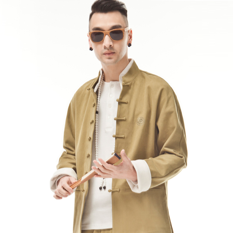 [EVENT 17/02] Bal de Saint-Valentin 1993 ! Original-Chinese-Style-Men-Tang-Suit-Top-Kahki-Coat-Fashion-Casual-Trend-Traditional-Chinese-Clothing-Cotton