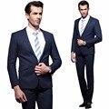 Labeouf terno masculino terno dos homens 2016 slim fit business casual paletó + calça terno homens partido terno