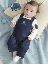 autumn kids overalls winter full cotton bib pants suit new born cartoon baby boy boys clothes
