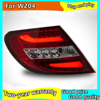 Car Taillamp For benz W204 LED Tail Light 2007-2010 For C180 C200 C300 For Taillight With DRL+Reverse+Signal
