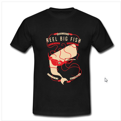 3Scrojo Reel Big Fish Band T shirt Men Adult Slim Fit T Shirt S-XXxl