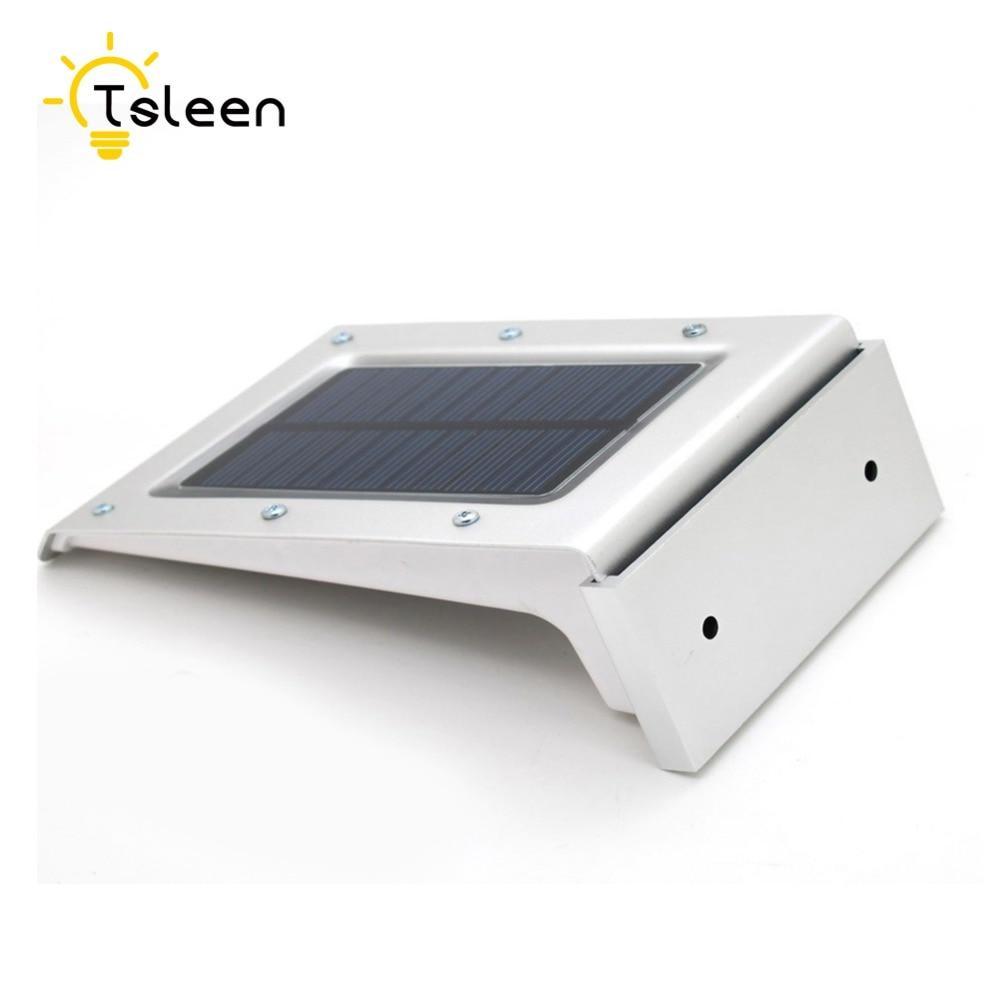 4x High Bright Aluminum Shell IP65 Solar Power PIR Sensor 20 LED <font><b>Light</b></font> Outdoor Manor Wall Garage Lamps lamparas solares exterior