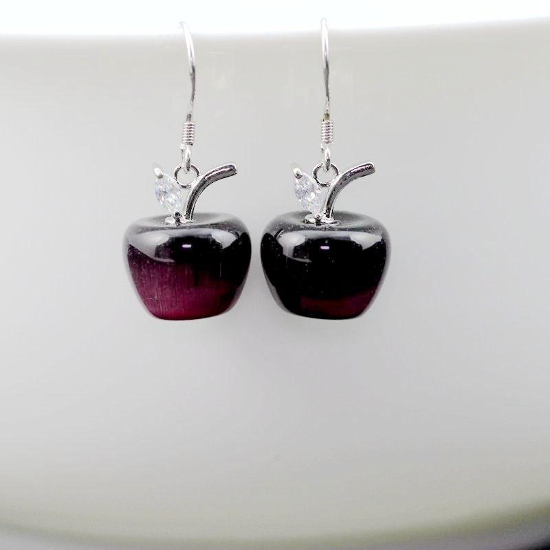 YL007 purple earring