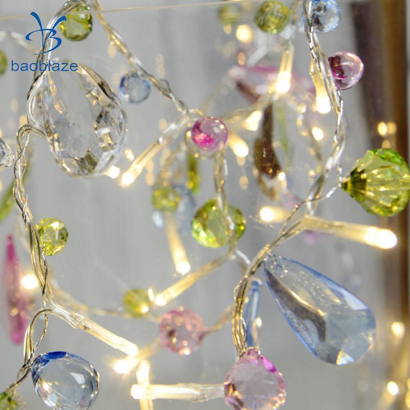 Baoblaze 10-LED Fairy Chain Bead Light Party Wedding Decor String Lamp 1.5M For Festival Birthday Party Outdoor Balcony Garden