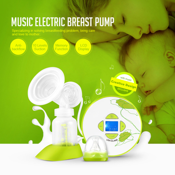 GL Musicical Electric Breast Pump Milk Extractor Baby Feeding Pump FDA Strong Suction Breast Enlargement Milk Pumps 120ml Bottle