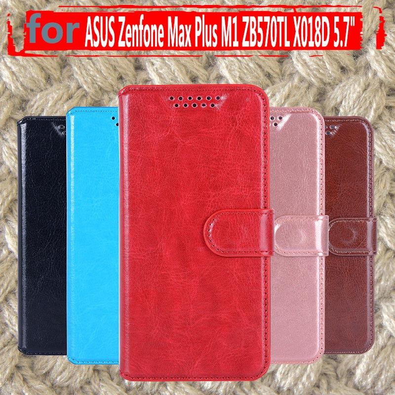 Flip Covers On ZB570TL PU Leather Cases For ASUS Zenfone Max Plus M1 ZB570TL X018D 5.7