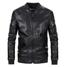 NEW Fashion Mens  jacket and coats motorcycle PU leather jacket men Embroidery leather jacket jaqueta de couro masculina мужские изделия из кожи и замши genuine leather jacket pp jaqueta masculina