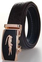 Top Grade Mens Leather Belt Brand Designer Genuine Leather Belts Automatic Buckle Belt Crocodile Surface Straps