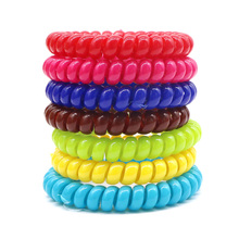 10Pcs Telephone Cable Shape Hair Accessories Women Lady Elastic Rubber Spring Hair Ring Ties Band Rope Ponytail Holder Bracelets