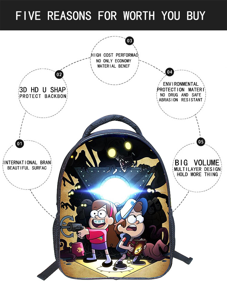 346a118e7 13 Inch Cartoon Student Children Backpack Bags Book Bags Gravity Falls  Pokemon Pikachu Robocar Poli Mochila for Kids Boys Girls-in School Bags  from ...