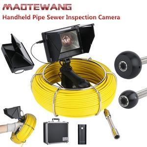 """Image 1 - 20M 4.3 אינץ 17mm כף יד תעשייתית צינור ביוב פיקוח וידאו מצלמה IP68 עמיד למים ניקוז צינור ביוב פיקוח מצלמה ש""""י"""