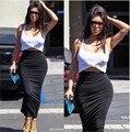 Ким кардашян сексуальная из двух частей одежды платье Bodycon бинты платье клуба мода Clubwear ну вечеринку знаменитости хлопок платья