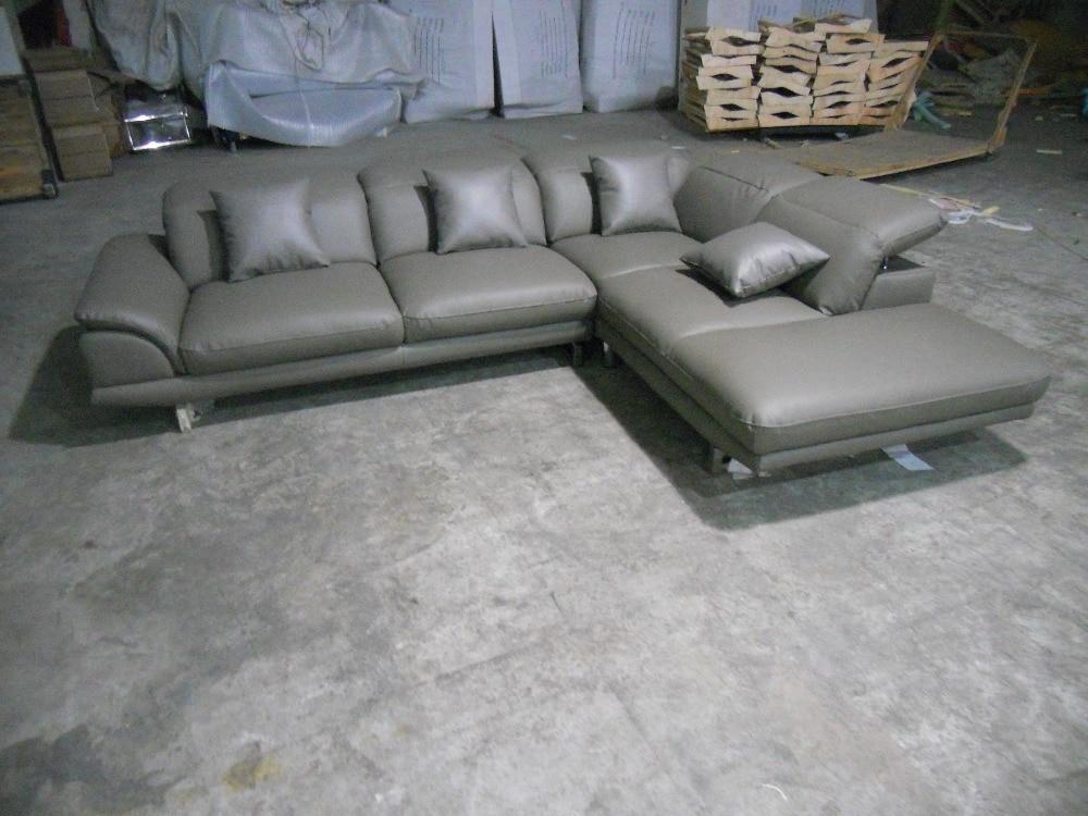 ægte læder sofasnit i stuen sofahjørne hjemmemøbler sofaer med - Møbel - Foto 6