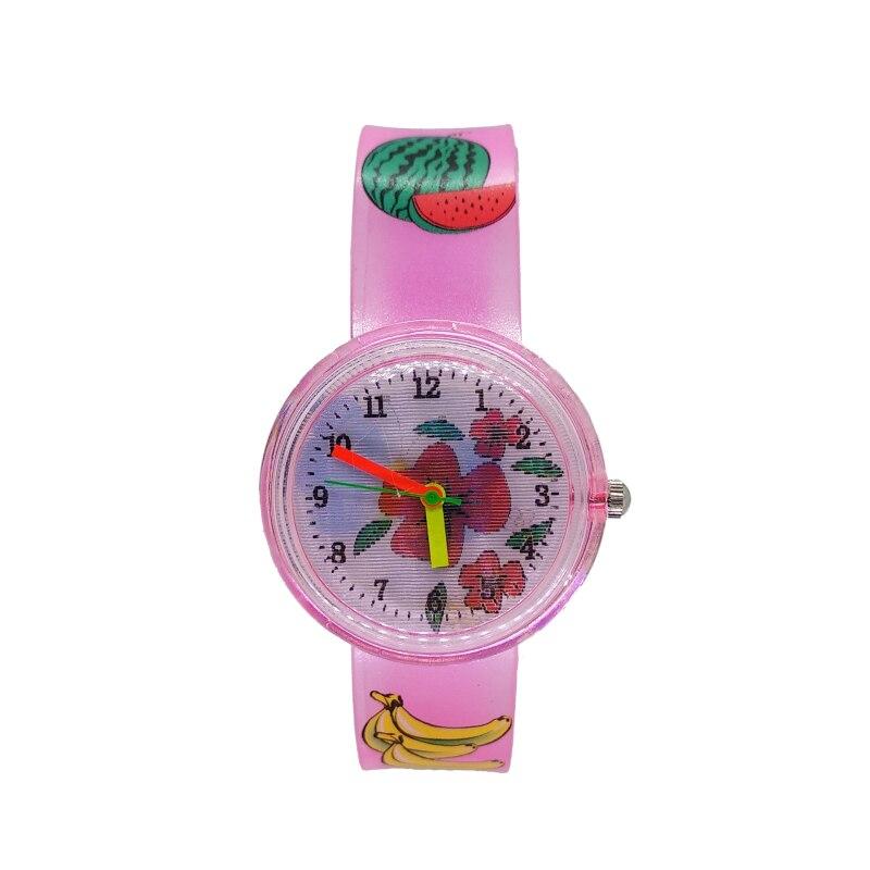 2019 new product launch summer Flower butterfly children students baby watch kids soft strap waterproof sports quartz wristwatch