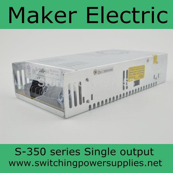 high efficiency CE approved S-350-24 14.6a power supply 24v 350w ce approved 120w transformer 220v 24v