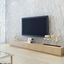 Beibehang curva Simple fondo papel de parede 3d moderna textura de rayas papel pintado liso sólido papel de pared para cuarto de baño