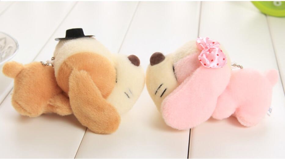 סגנונות חדשים כלב יפה כלב קטיפה יפה תליון סמרטוט בובות צעצועים מתנה לילדים יום הולדת