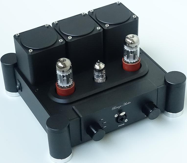 Finished 6SN7+ECC83 Vacuum Tube Headphone Amplifier Class A Stereo amp HiFi Preamplifier