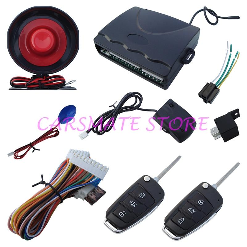 Système d'alarme de voiture à sens unique classique avec indicateur d'état de LED de nombreuses clés vierges sont sélectionnables expédition rapide en 24 heures Carsmate