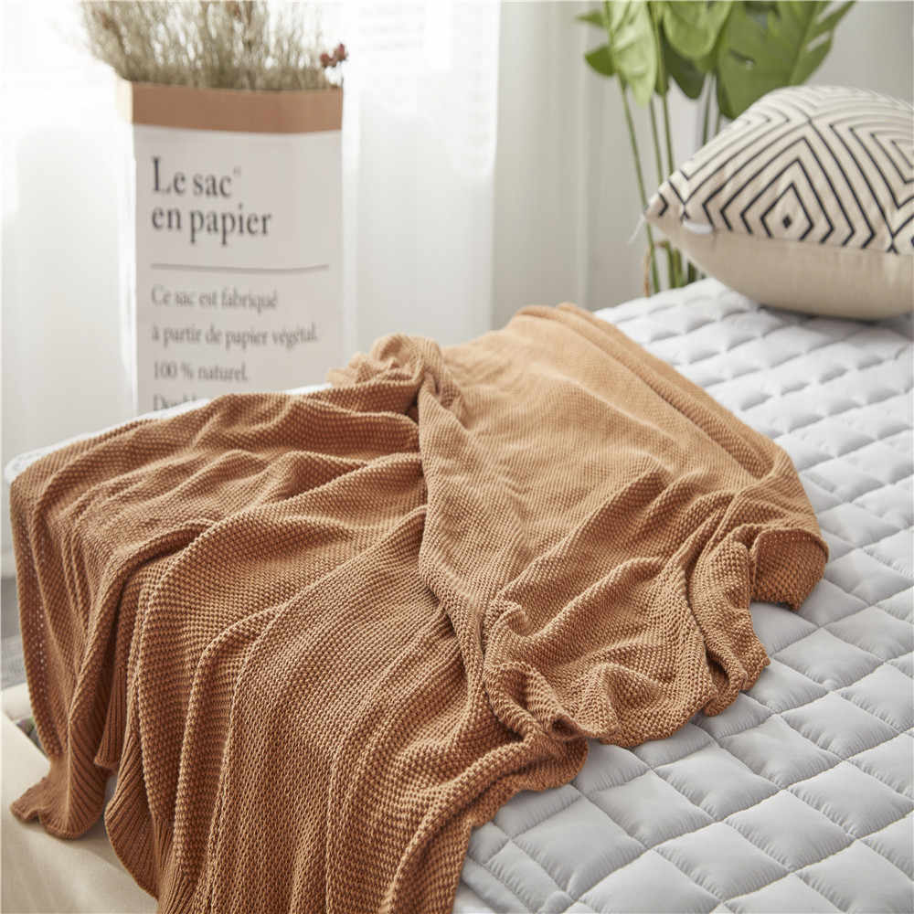 New Plaid Knitted Blankets Decorative Throws Baby Children Cobertor Bedroom Soft on Sofa/Bed Covers/Plane Travel Bedspread koc