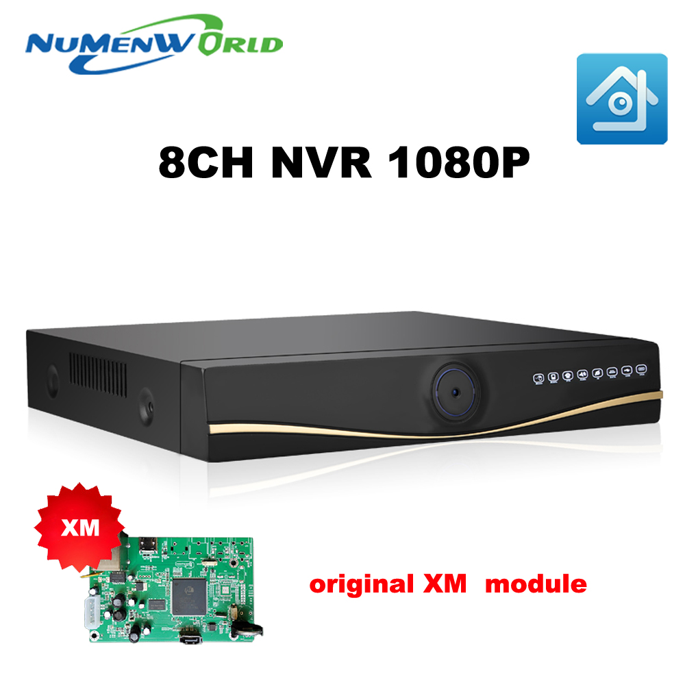 2017 XMeye NEW Full HD 1080P CCTV NVR 8CH NVR For IP Camera ONVIF H.264 HDMI Network Video Recorder 8 Channel  NVR full 1080p 8 channel cctv nvr for hd ip camera 3g wifi p2p cloud hdmi port for 8ch onvif network solution 2hdd max 4tb