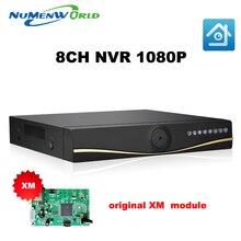 2017 XMeye НОВЫЙ Full HD 1080 P ВИДЕОНАБЛЮДЕНИЯ NVR 8-КАНАЛЬНЫЙ СЕТЕВОЙ ВИДЕОРЕГИСТРАТОР Для Ip-камера ONVIF H.264 HDMI Сетевой Видеорегистратор 8 Канала NVR