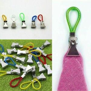 Image 3 - 5pcs Tea Towel Hanging Metal Clips 2x2.5x1.5cm Metal Clip On Hooks Loops Hand Towel Hanging Clips For Kitchen Bathroom Beach