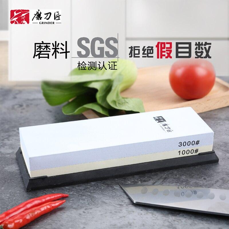 GRINDER Cuisine couteau aiguiseur 180/600 10003000 grit corindon pierre à aiguiser pierre à huile pierres à aiguiser outil de meulage meule TAIDEA