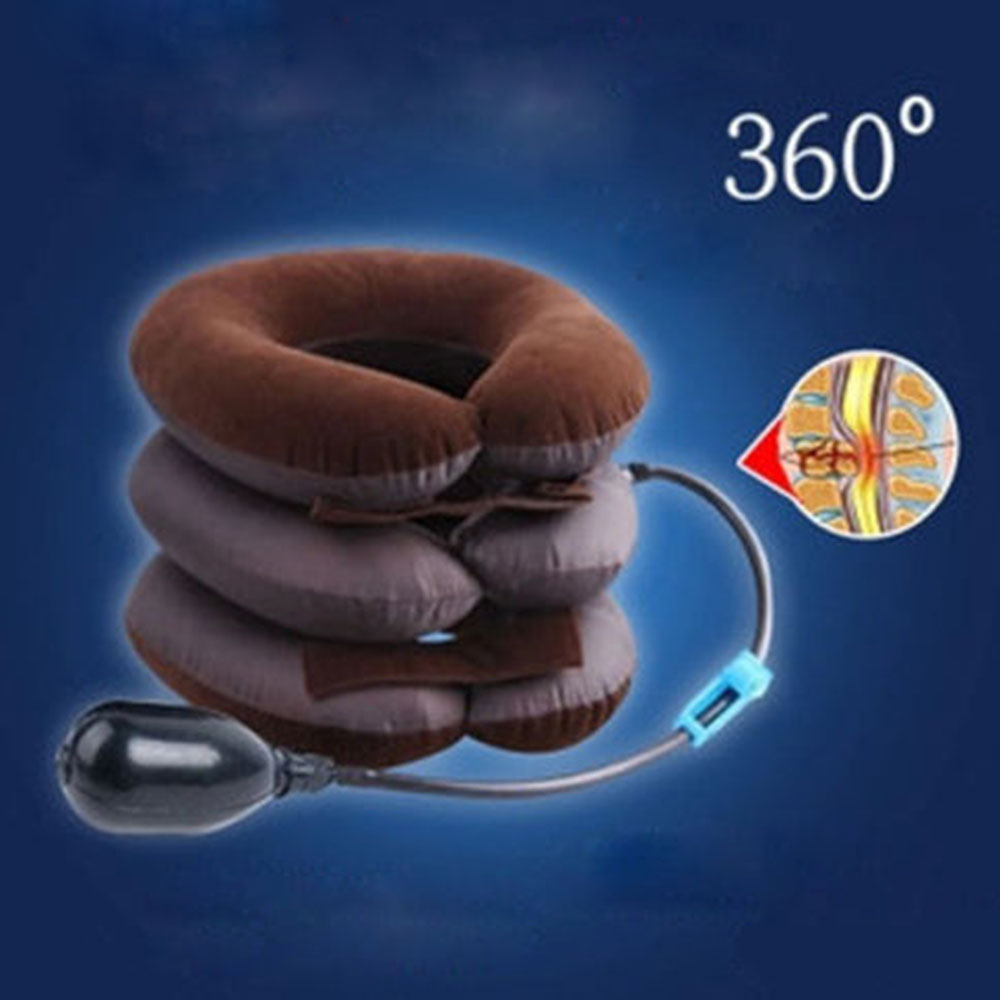Neck Traction For Women Inflation Cervical Collar Soft Brace Relief Headache Back Shoulder Pain Massage Relaxation Health Care health product knee pain relief rheumatoid arthritis treatment device with 4 function home care