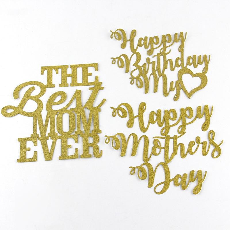 Cake Flags feliz día de la madre mejor mamá Cupcake Cake Topper - Para fiestas y celebraciones