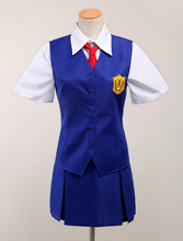 Envío Libre Anohana Tsurumi Chiriko de Halloween Cosplay Traje de Uniforme Escolar