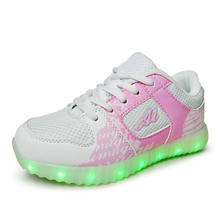 Luminous Sneakers Kids Sneakers Charging Luminous Lighted Colorful LED lights Children Shoes Casual Flat Girls Boy Shoes