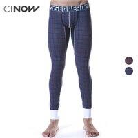 New Men S Sexy Long Johns Comfortable Soft Cotton Fashion Plaid Warm Thermal Underwear Underpants Slim