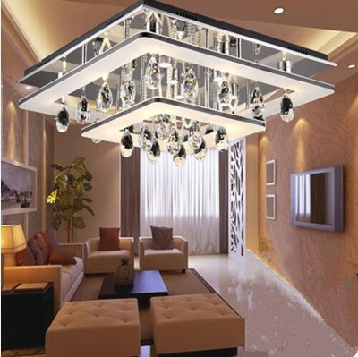 LED 51W- 60w Yakeli contracted rectangle crystal bedroom sitting room dining-room atmosphere absorb dome light 220-240v @-9