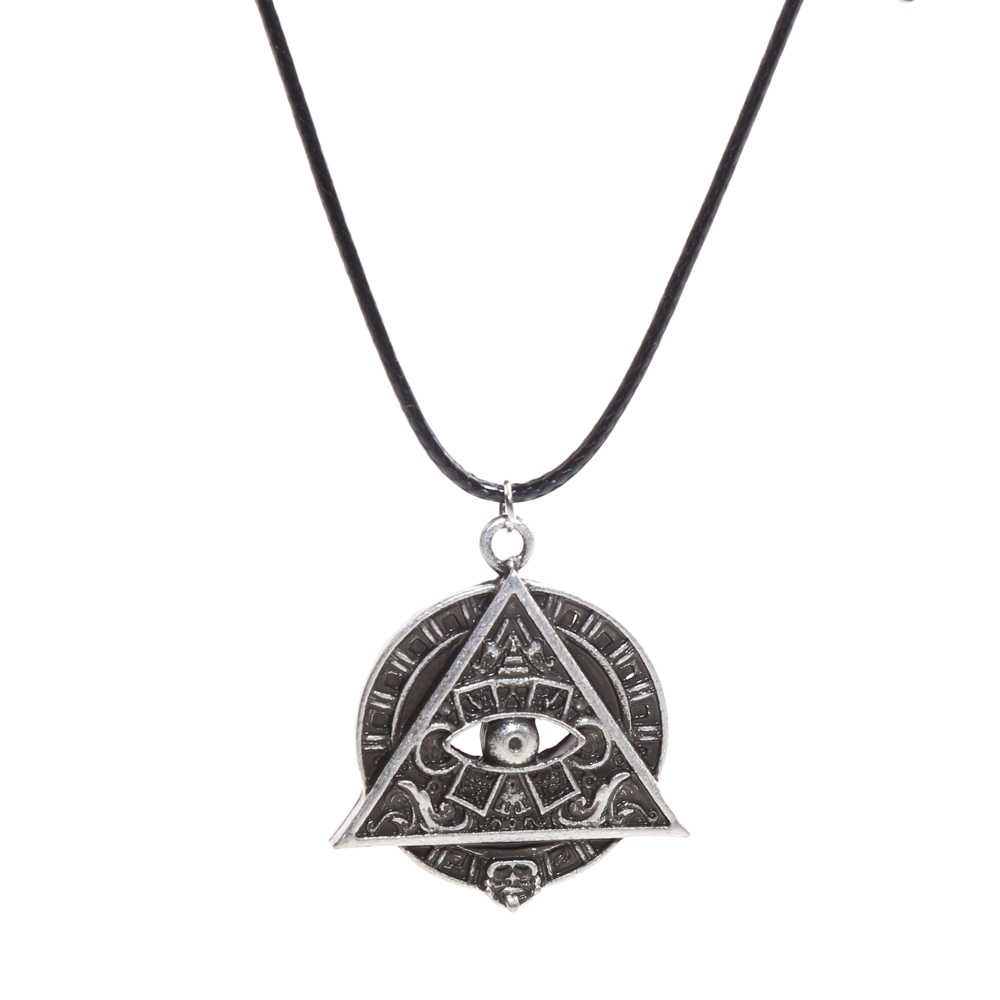Mayan Pyramid All Seeing Eye Mayan Icon Pagan Wicca Pendant Necklace Spiritual Amulet Necklace Talisman 4027