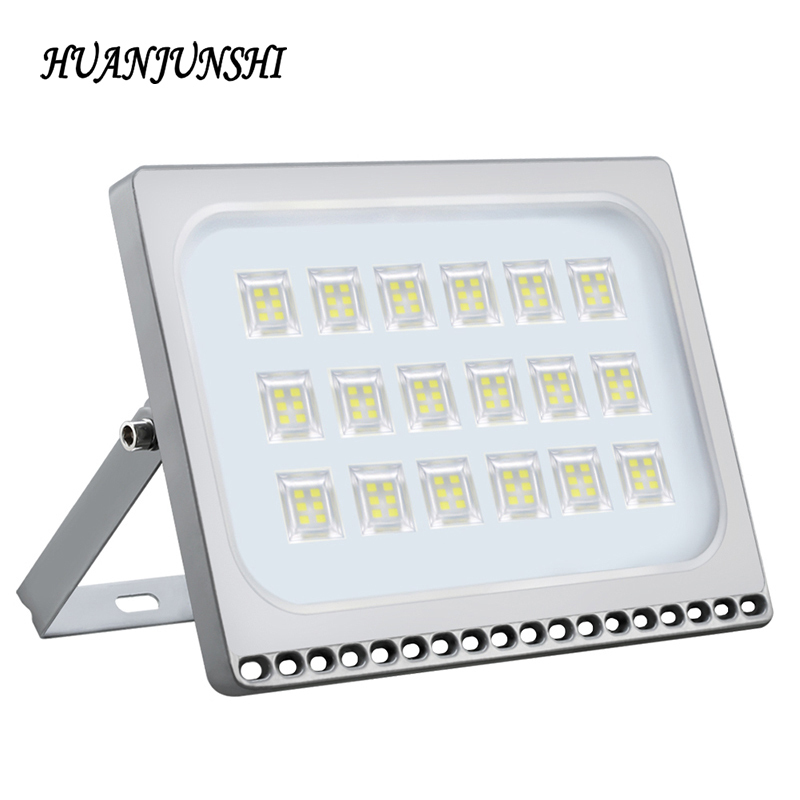 100W 220V IP65 Waterproof LED Spotlight Ultrathin LED Flood Light Outdoor Garden Wall Lamp Floodlight Warm/Cold White Lights free shipping 8pcs lot cold white warm white 100w led flood light outdoor floodlight garden lamp water proof floodlight