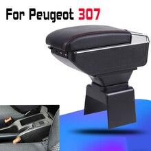 Leather Car Armrest For  Peugeot 307 Arm Rest Rotatable saga leather car armrest for renault sandero arm rest rotatable saga