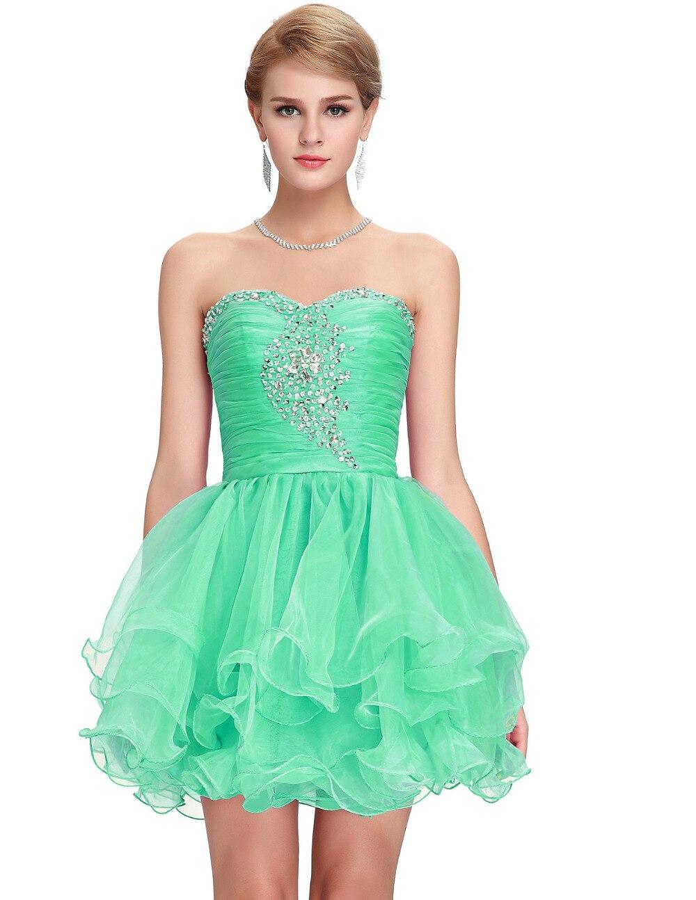 Short Black Bridesmaid Dresses Mint Green Purple Beads Formal Prom ...