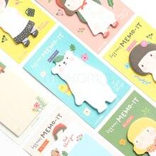 Каваи милый мультфильм корейский Канцелярские Polar Bear Блокнот планировщик блокнот Важная Memo школьные принадлежности детям японский разместить его