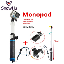 SnowHu Waterproof Diving Floating Extension Pole Float Floaty 62cm Monopod wifi Clip For Gopro Hero 7 6 5 4S 4 3+ GP239
