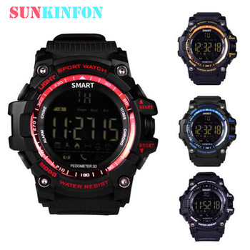 Waterproof Sports Smart Watch Wristwatch S-X16 SmartWatch with Pedometer Distance Counter Wearable Device for iOS Android Phones