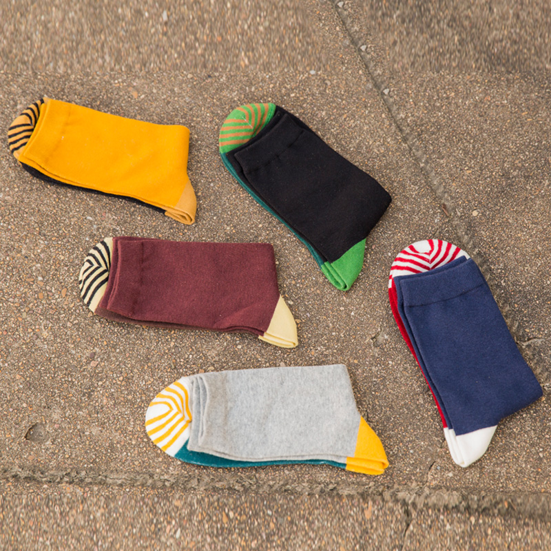 Cotton men in tube   socks   cotton   socks   fashion color autumn winter   socks   man EUR39-44