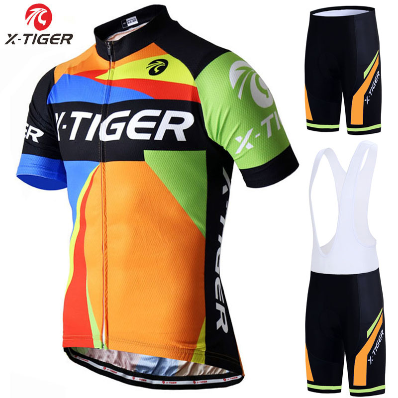 X-Tiger Pro Cycling Jersey Set Summer Mountain Bike Clothing Pro Bicycle Cycling Jersey Sportswear Suit Maillot Ropa Ciclismo veobike 2018 pro team summer big cycling set mtb bike clothing racing bicycle clothes maillot ropa ciclismo cycling jersey sets