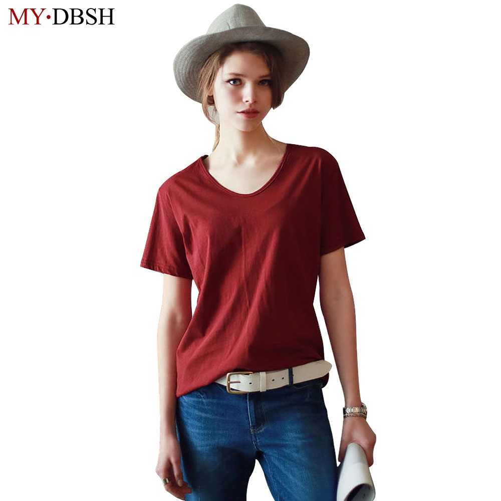 New Fashion Casual Women Clothes Tees & Tops New Elastic Cotton T Shirts Female Short Sleeve Round Collar tshirt Plus Size 4XL