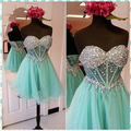 Vestidos De 15 Cortos Sweetheart Glitter Short Homecoming Dresses Sexy Cheap Graduation Dresses Mint Green Cocktail Party Dress
