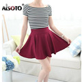 Women Skirt Shorts Plus Size sexy Pleated Skirts Prevent Exposure vintage faldas High Elasticity Pleated saias das mulheres