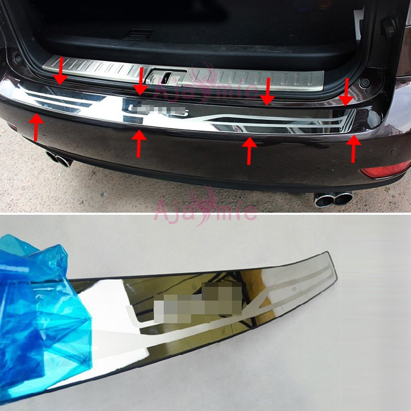 Rear Bumper Protector Trunk Door Sill Cover Trim 2009-2015 Stainless Steel Car Styling for lexus RX 450h 350 270 Accessories new arrival for lexus rx200t rx450h 2016 2pcs stainless steel chrome rear window sill decorative trims