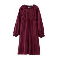 B B17010 New Fashion Spring Girls Casual Dresses Early Summer Lantern Sleeve Princess Dress 5 13T